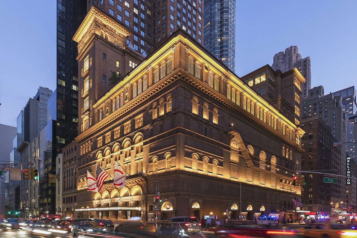Carnegie hall studio towers renovation project architect for Video architecture