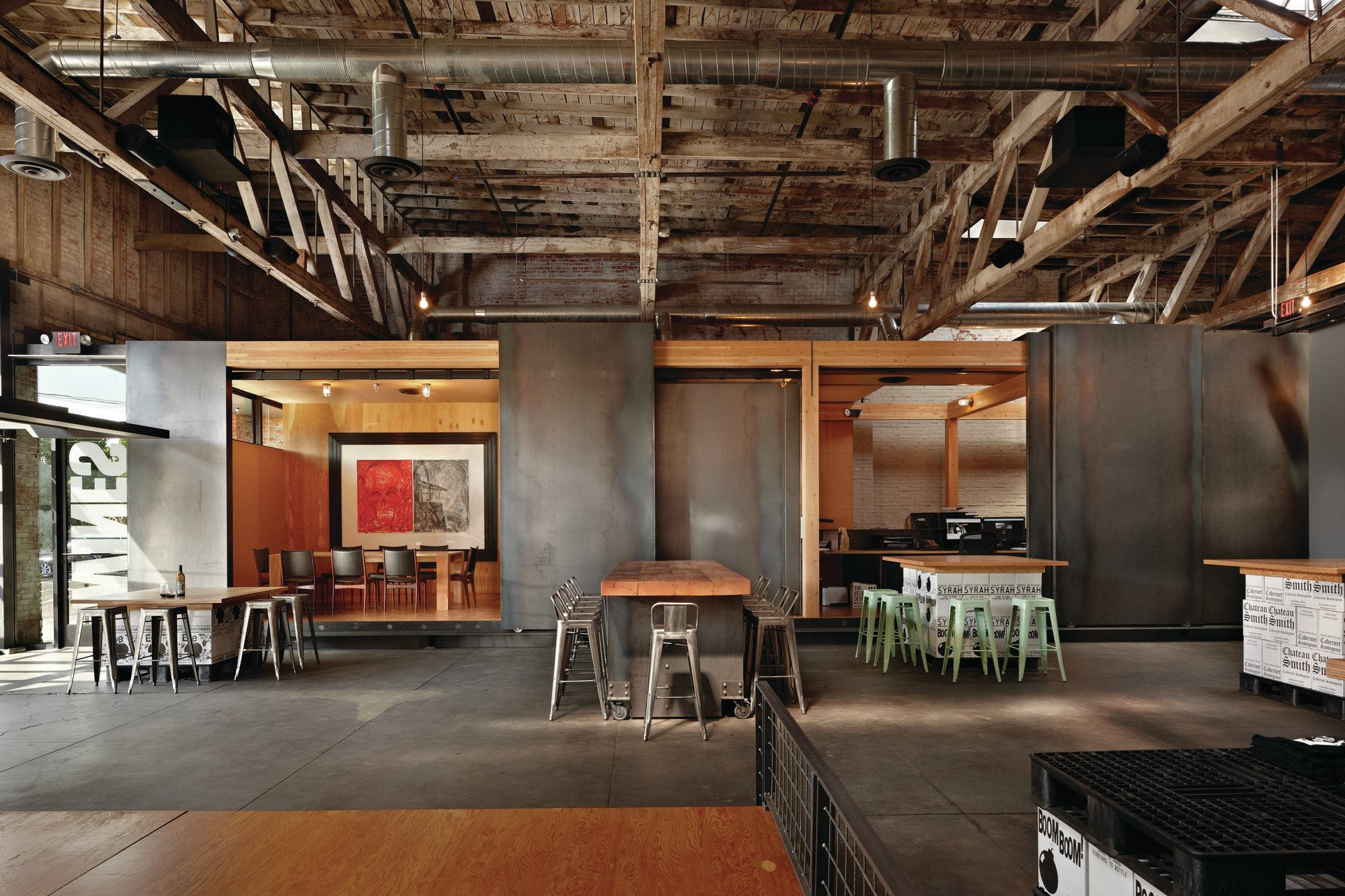 2013 aia honor awards charles smith wines architect for Industrial office interior