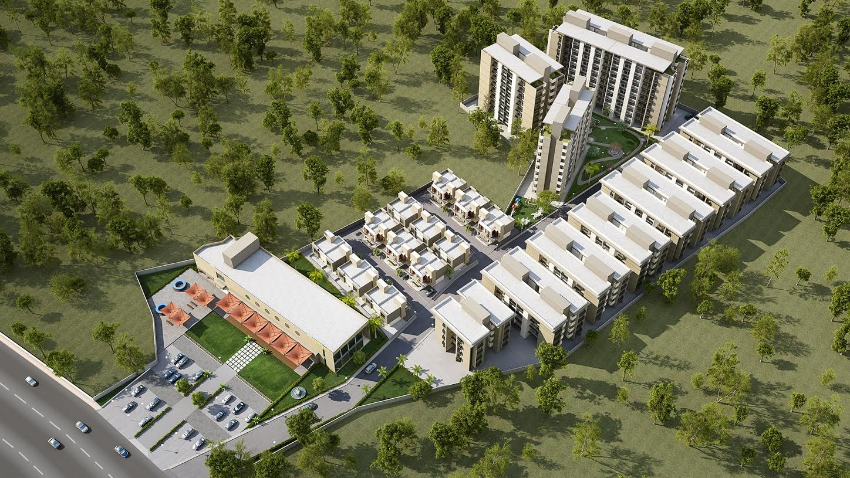 Palm greens enclave architect magazine priyanka for Architecture design for home in vadodara