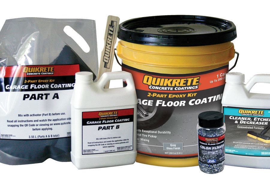 Epoxy garage floor coating jlc online concrete slabs for Garage floor cleaner degreaser