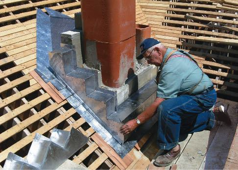 Flashing A Chimney With Soldered Copper Jlc Online