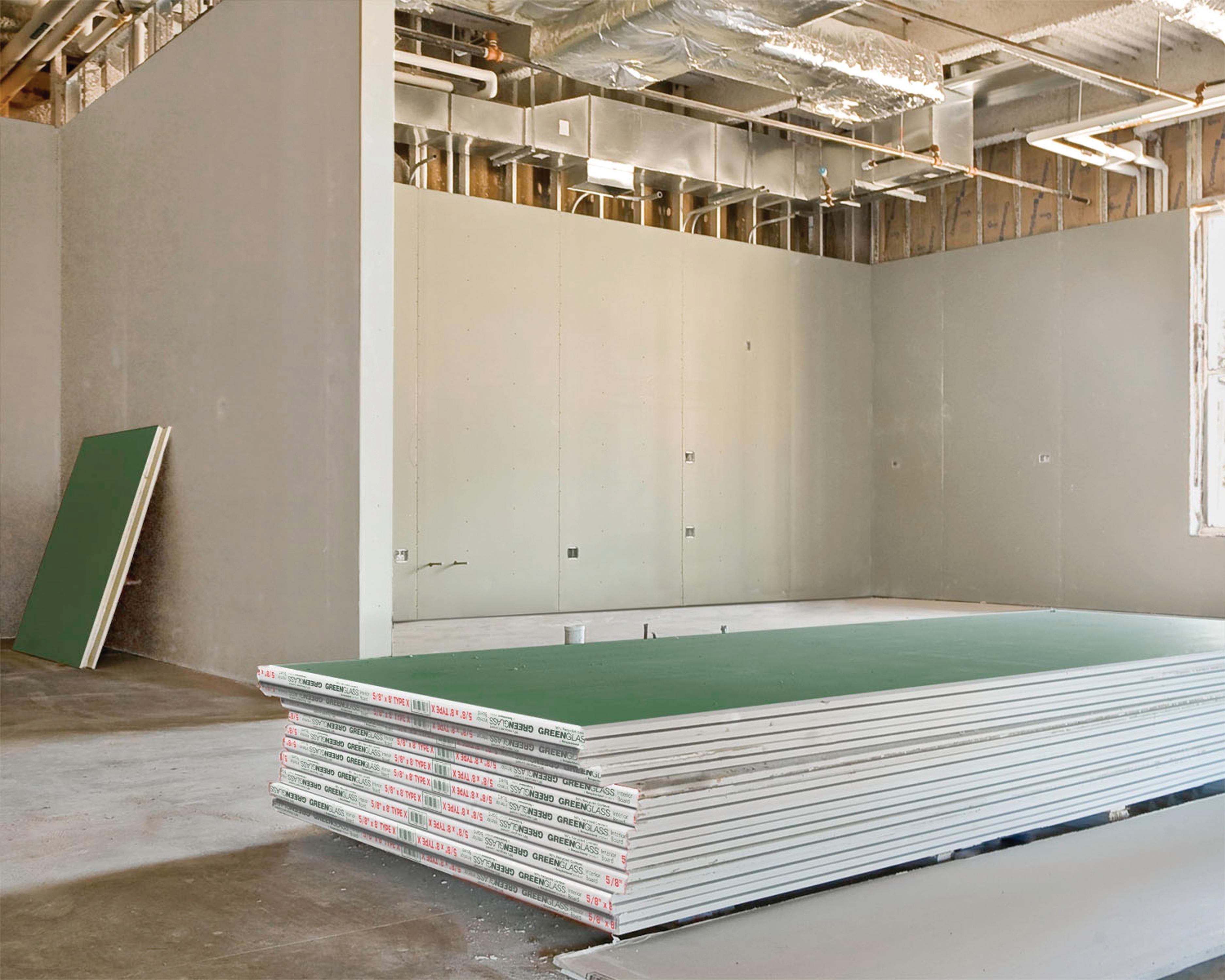 Moisture Resistant Gypsum Board Backs And Sides Front : Gypsum board contains recycled content architect