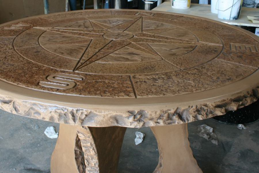 Stamped Concrete Medallions : Proline concrete tools compass medallion tabletop mold