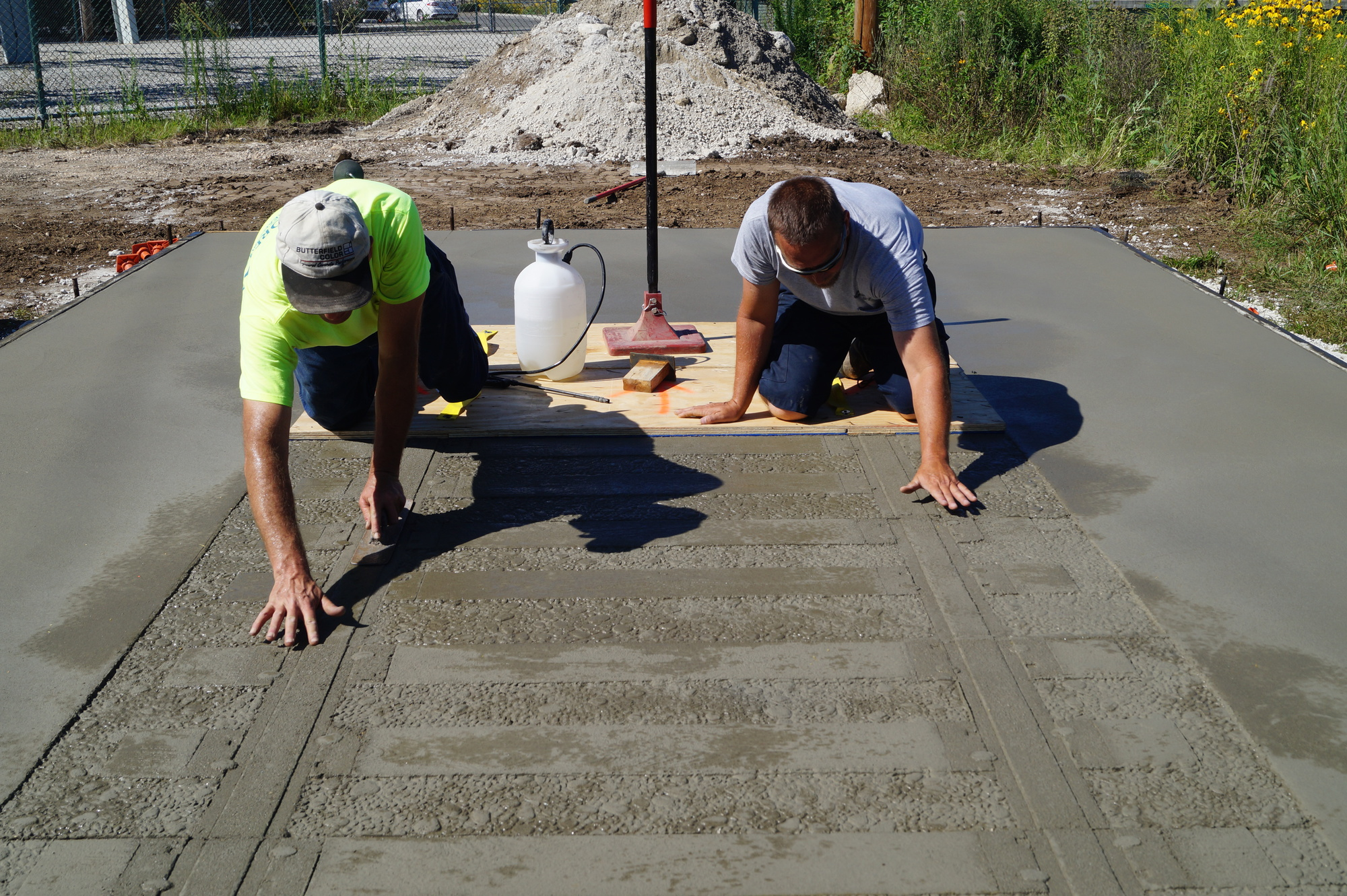 On Track With Stamped Concrete Concrete Construction