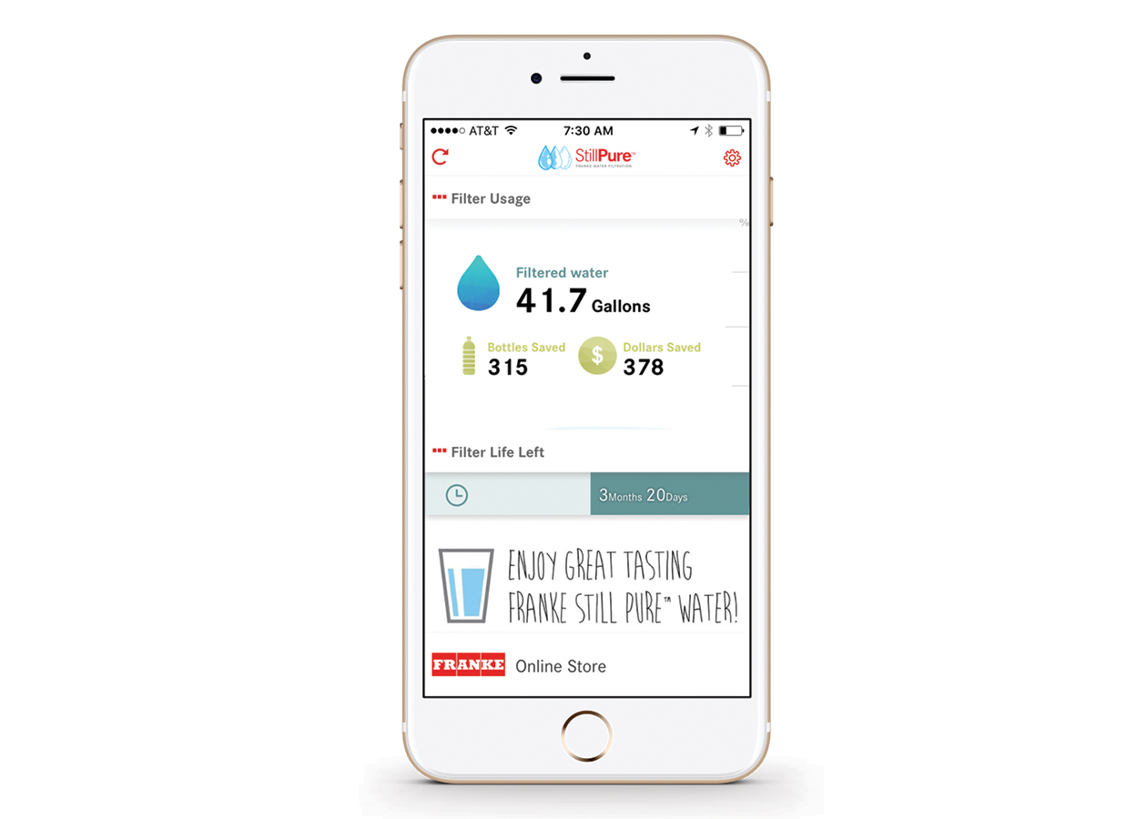 faucets sinks builder magazine franke launches bluetooth enabled faucet filtration system