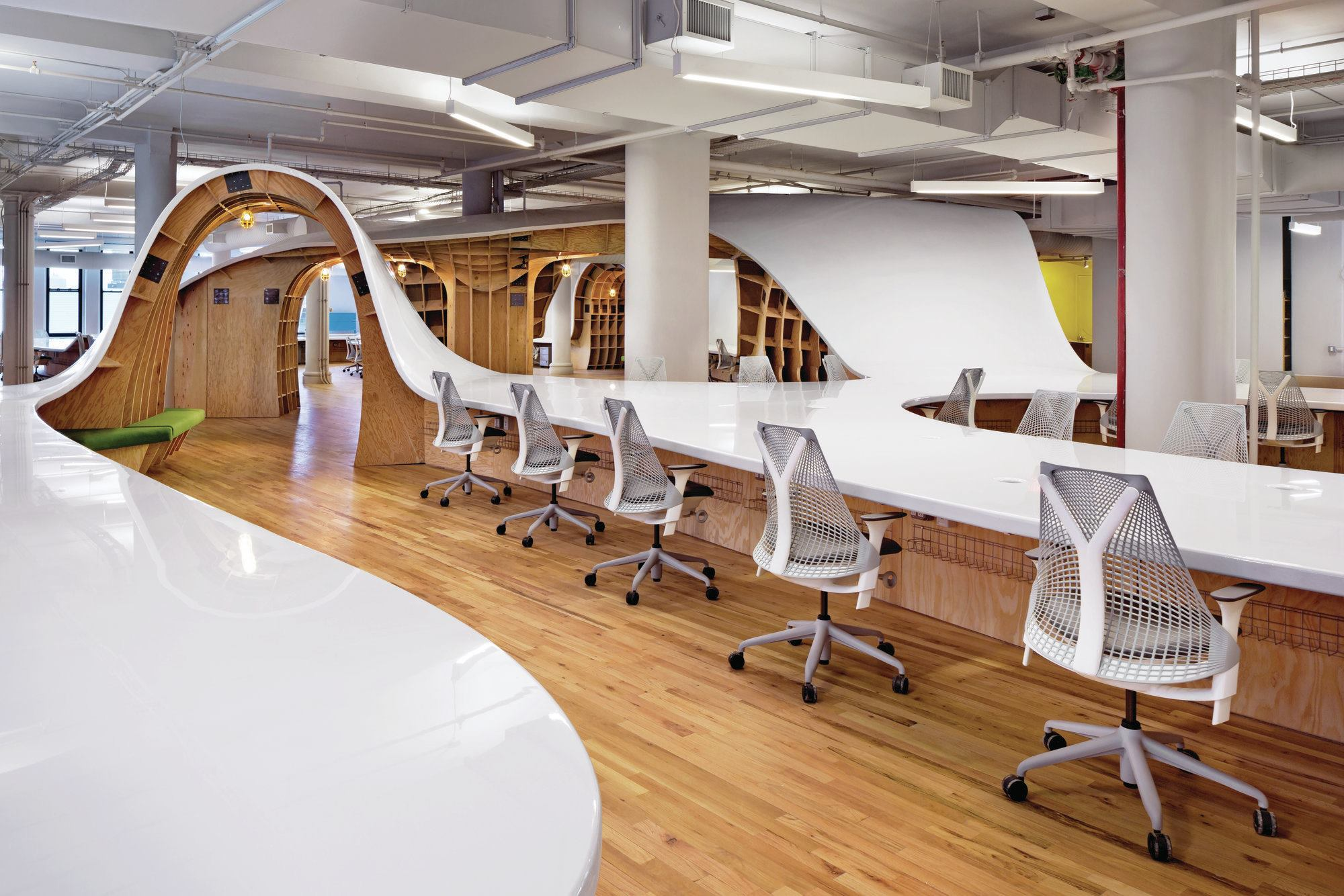 long office tables. the barbarian group office architect magazine projects furniture fabrication new yorknorthern jerseylong island nynjpa york long tables