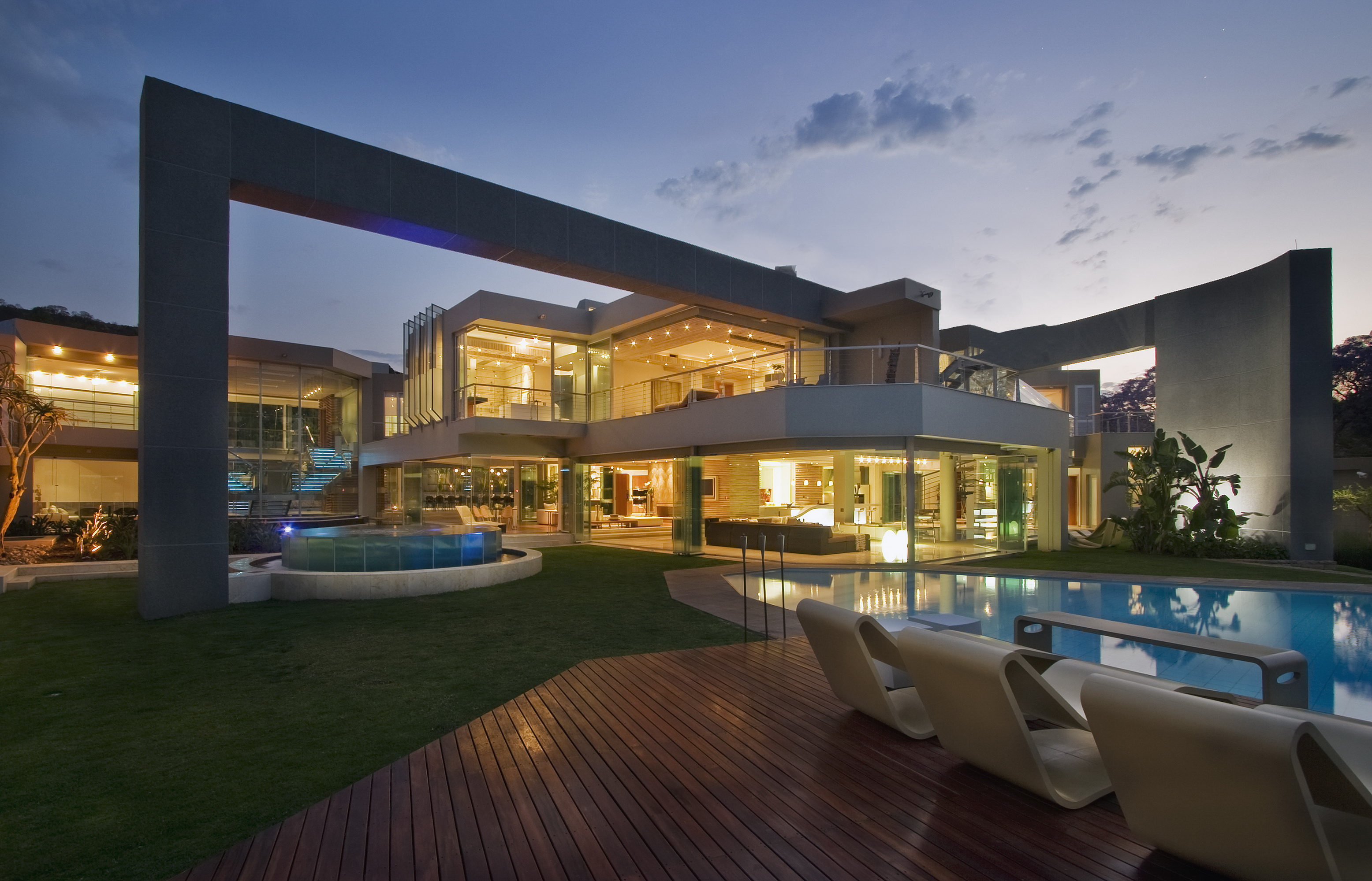 Glass house architect magazine johannesbrg south africa multifamily new construction custom design glass and concrete home contemporary mansion