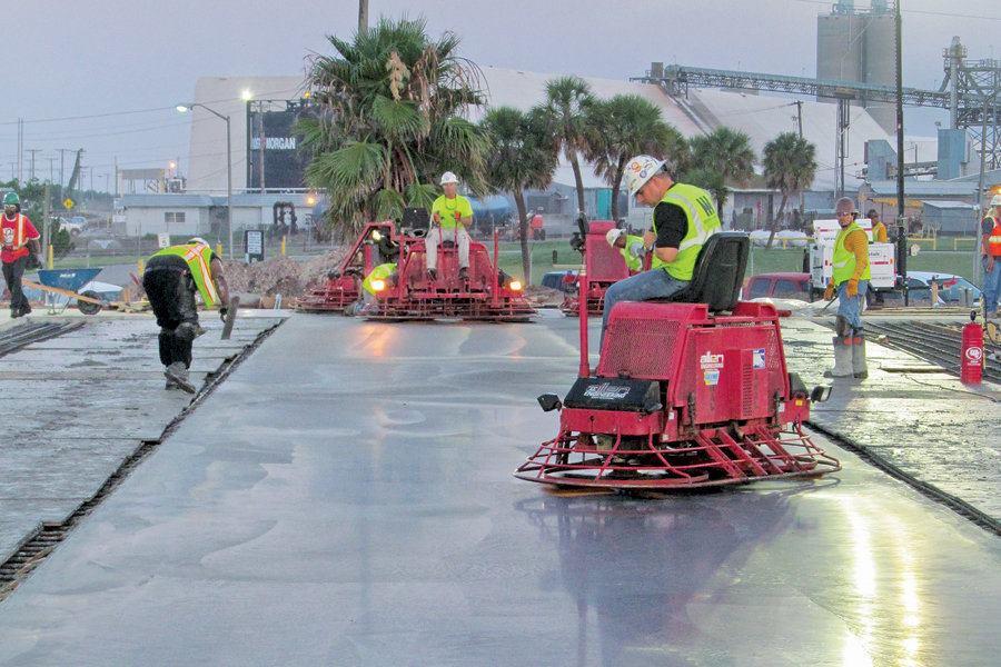 Narrow Aisle Defined Traffic Floor Flatness Concrete