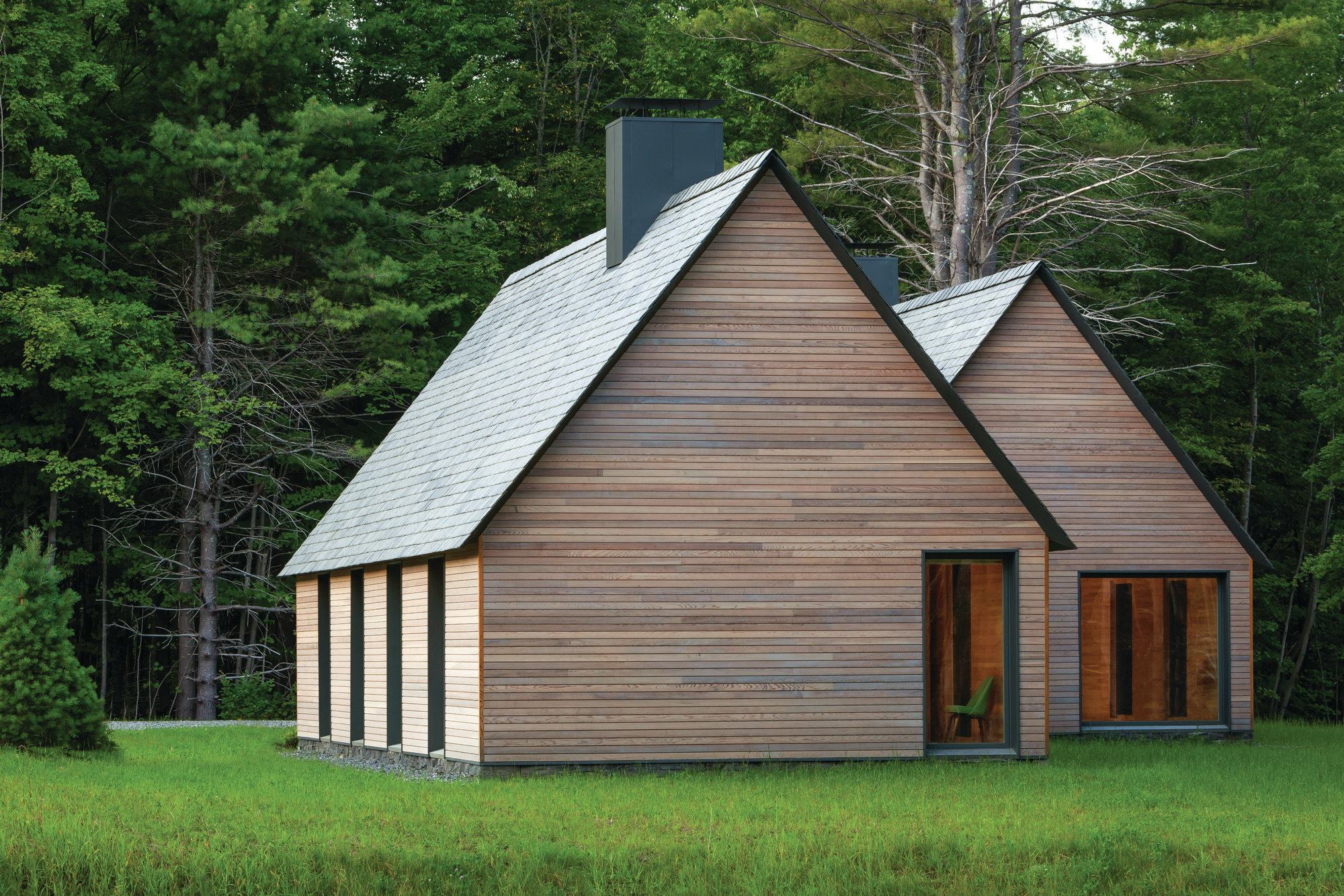 Marlboro music five cottages designed by hga architect for Home building magazines
