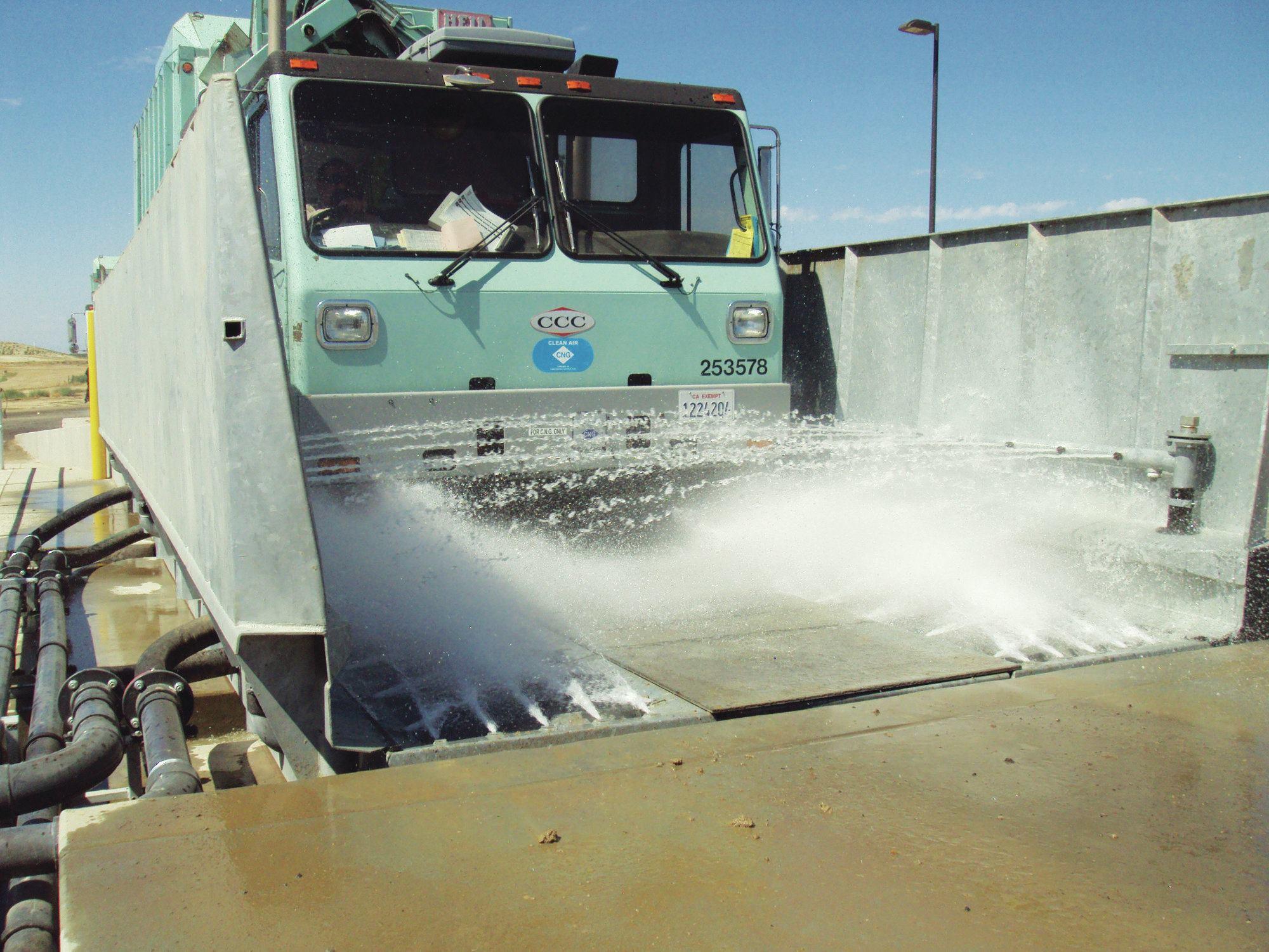 High Pressure Wheel Washing Public Works Magazine
