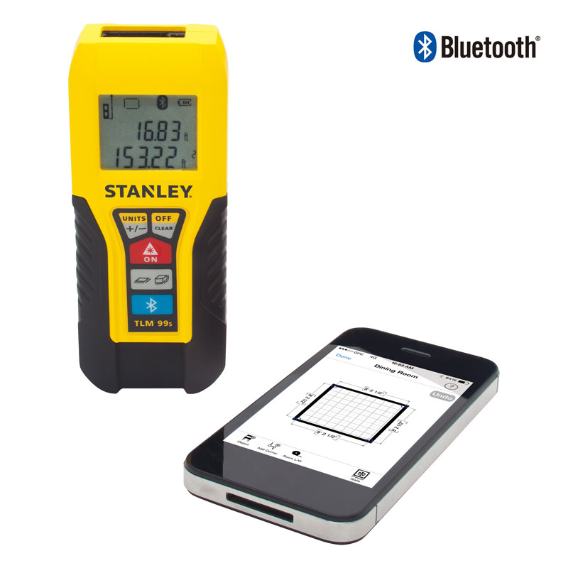 Stanley Point And Click Measuring With Bluetooth Laser