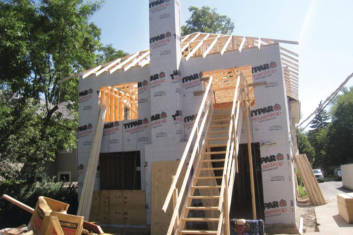 Keeping It Clean Jobsite Stairs Remodeling Jobsite