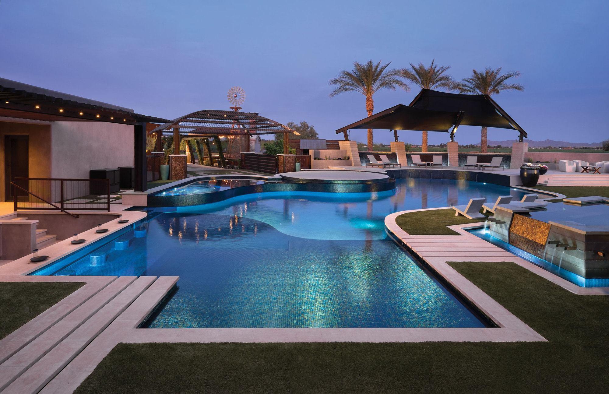 Masters of design staff pick rebecca robledo pool spa for Pool design with spa