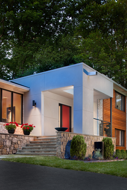 Modern Entrance Facade House House Entrance: Modern Facade, New Entry And Garage Addition