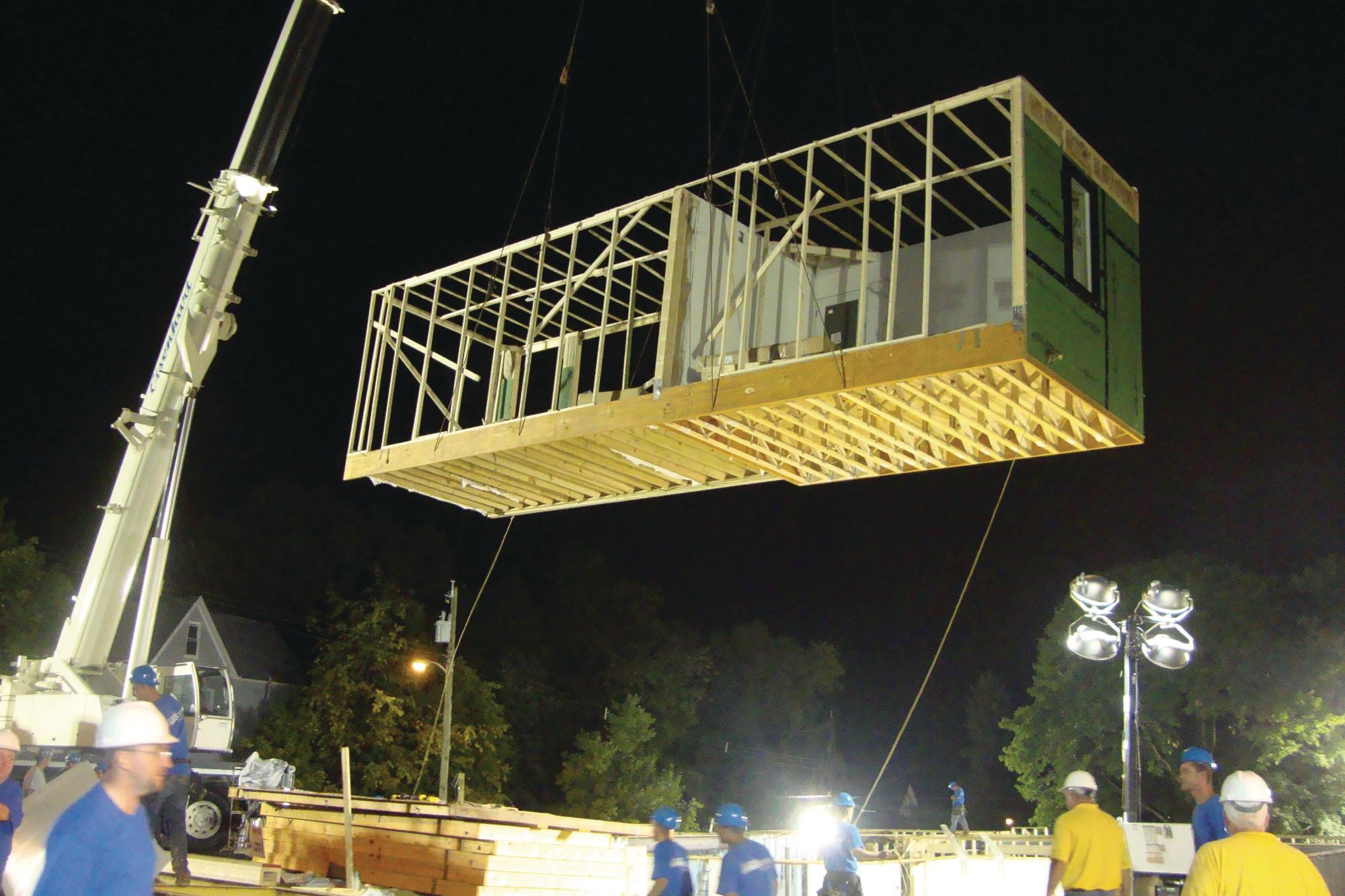 Excel Homes Battles The Elements In Quot Extreme Makeover S