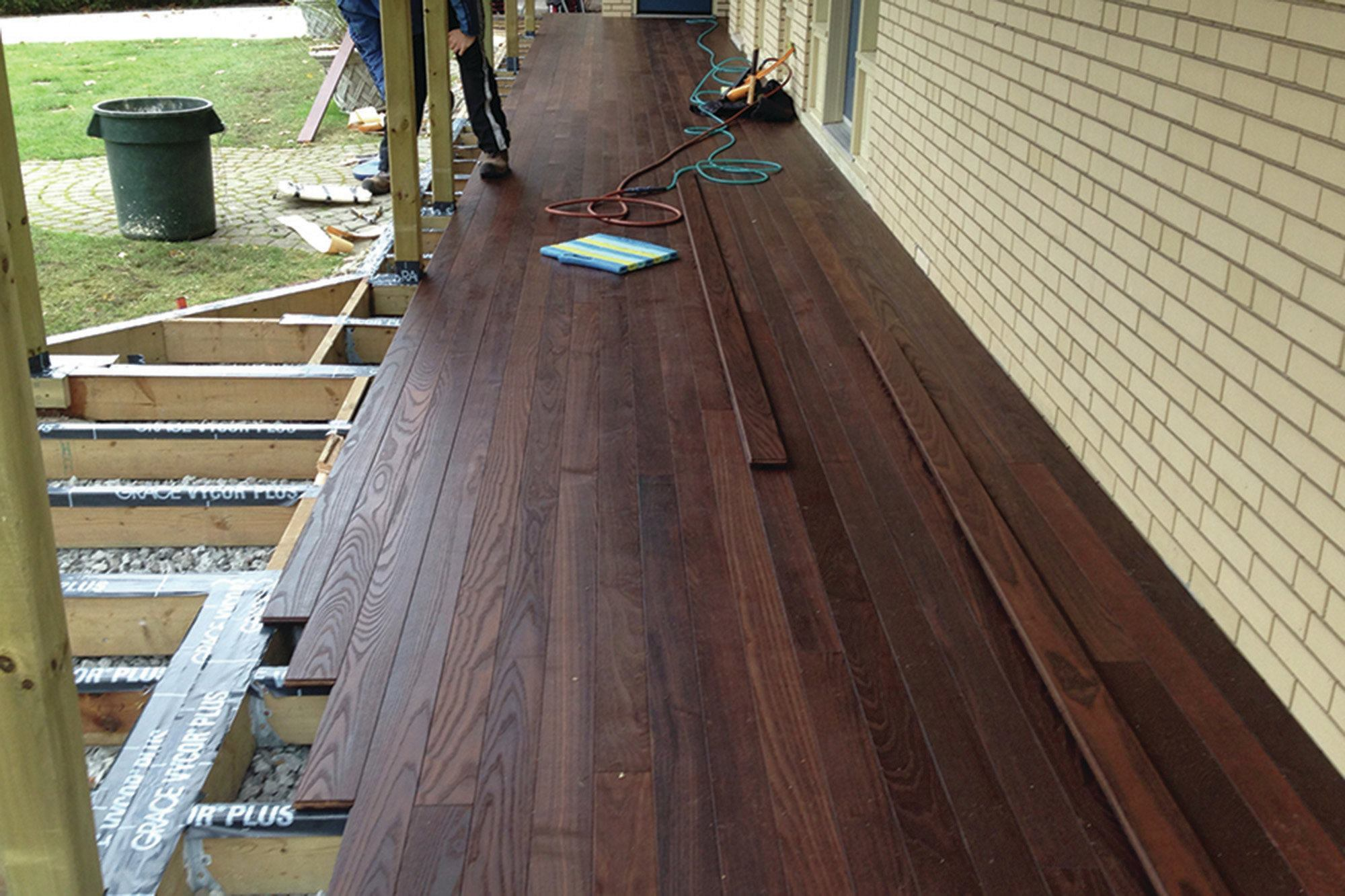 Thermally modified decking professional deck builder for Brown treated deck boards