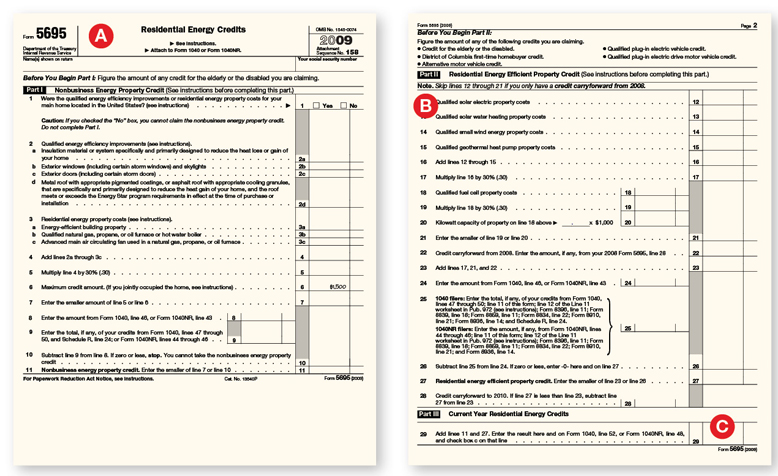 Claiming the Tax Credit: About IRS Form 5695 | Remodeling | Tax ...