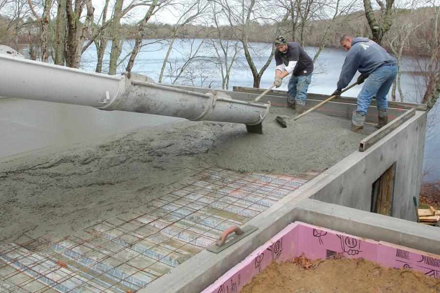 Pouring A Structural Slab Jlc Online Concrete Slab