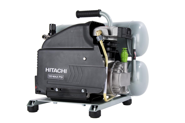 Lightweight hitachi ec99s jobsite air compressor jlc for Can i use motor oil in my air compressor