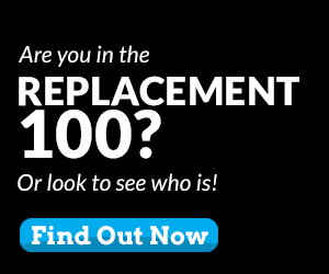Are you in The Replacement 100?