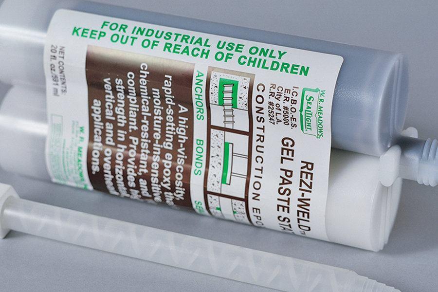Rezi Weld Epoxy : W r meadows rezi weld gel paste state concrete