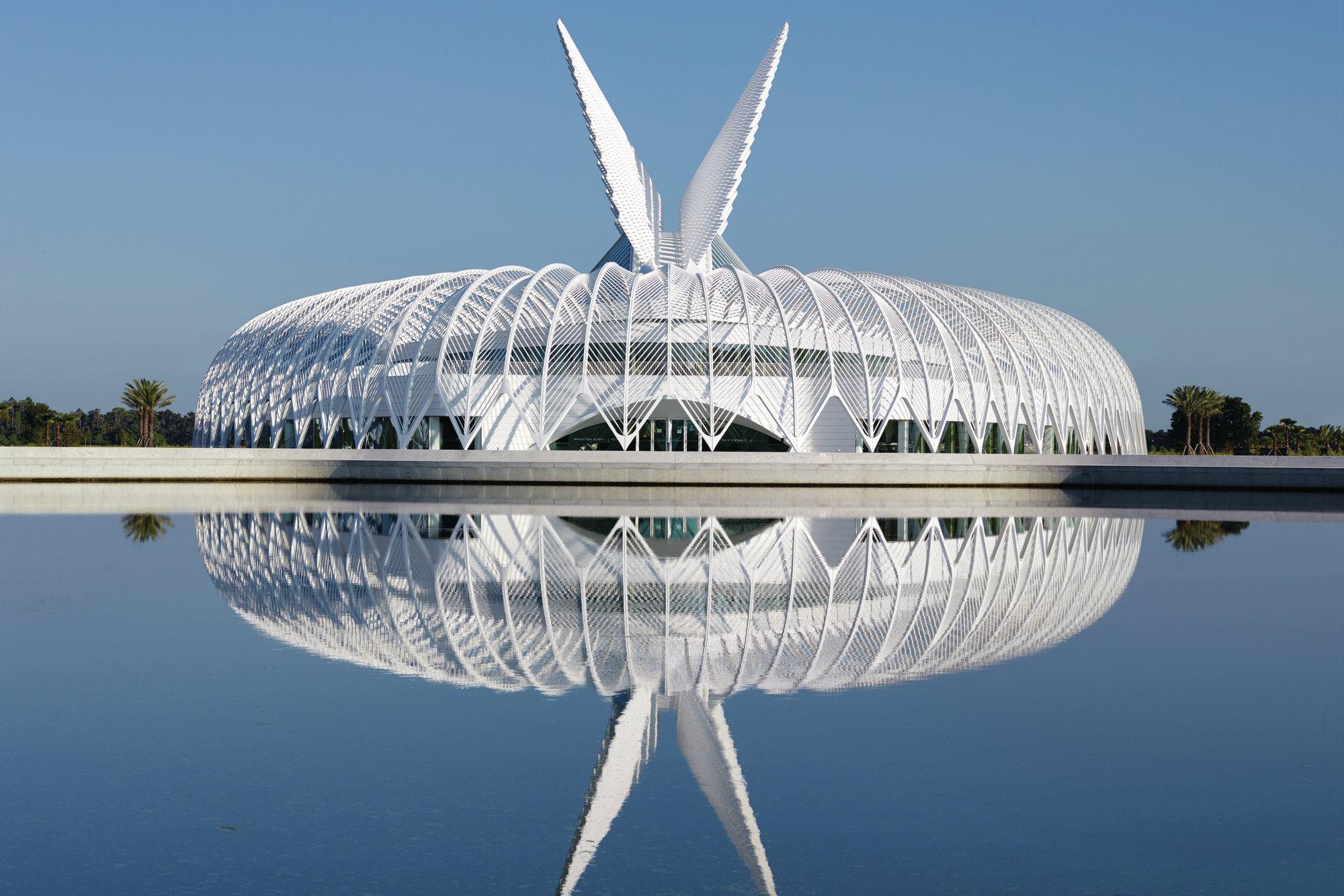 Modern Architecture Orlando florida polytechnic university, designedsantiago calatrava