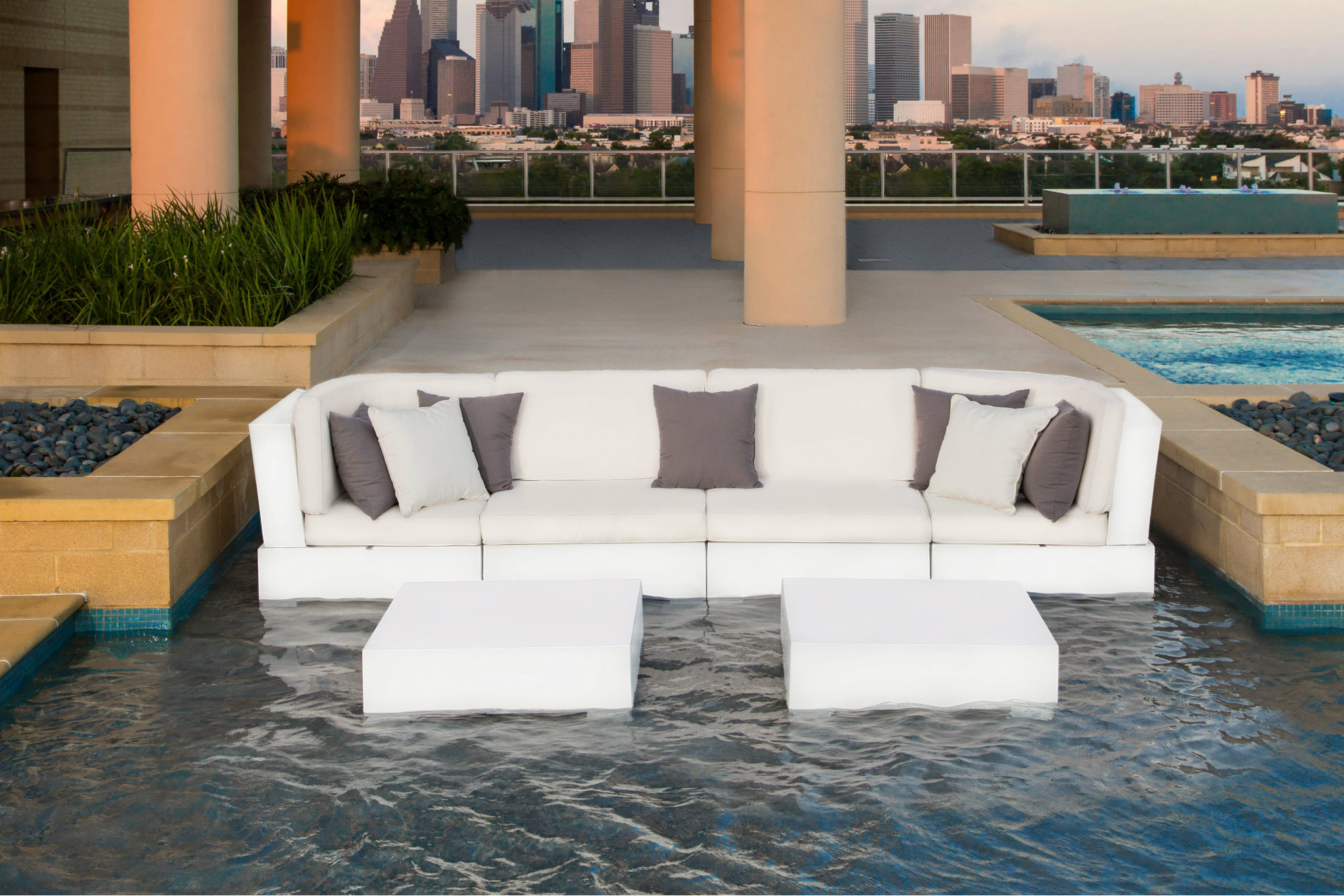 Ledge Lounger Offers Modular Furniture For Swimming Pools Pool Spa News Products