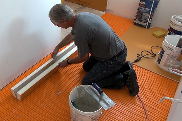 Installing The Curb For A Tile Shower Jlc Online