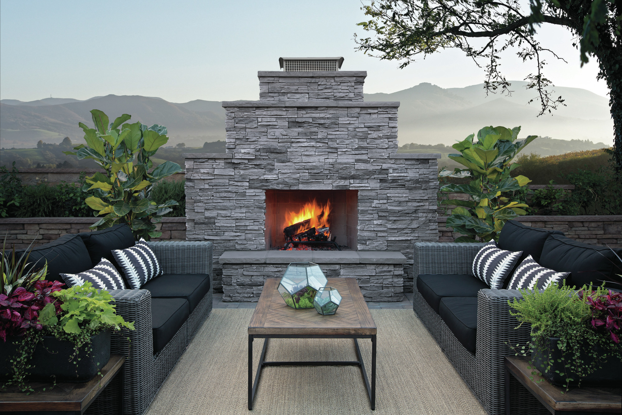 Turn up the heat 7 hot products for outdoor kitchens for Eldorado outdoor fireplace
