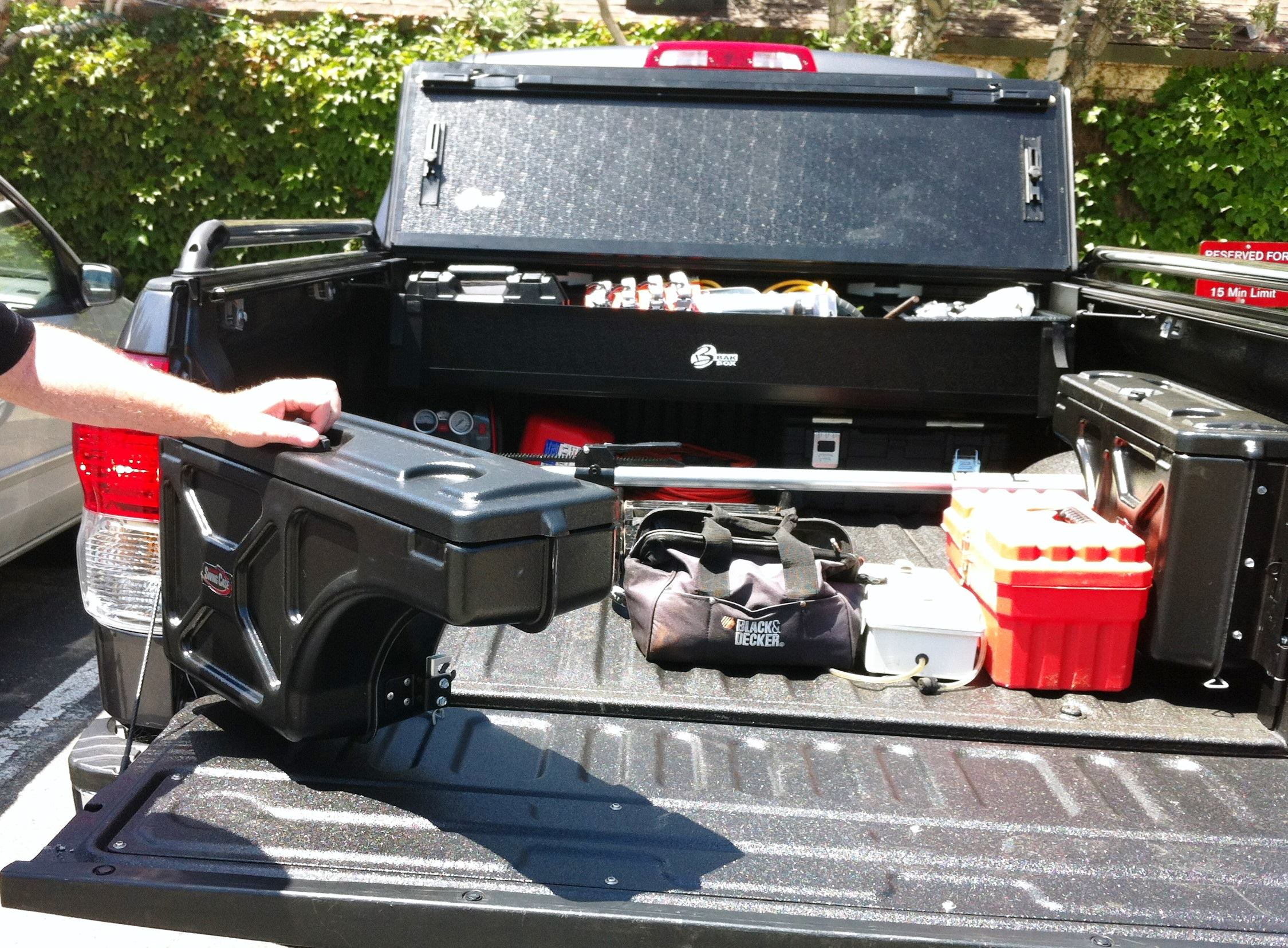 A clever truck bed storage system tools of the trade fleets trucks and accessories - Truck bed storage ideas ...