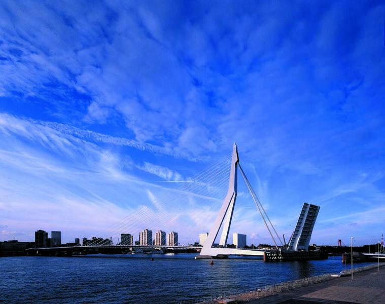 Erasmus Bridge   Architect Magazine   UNStudio, Rotterdam ...