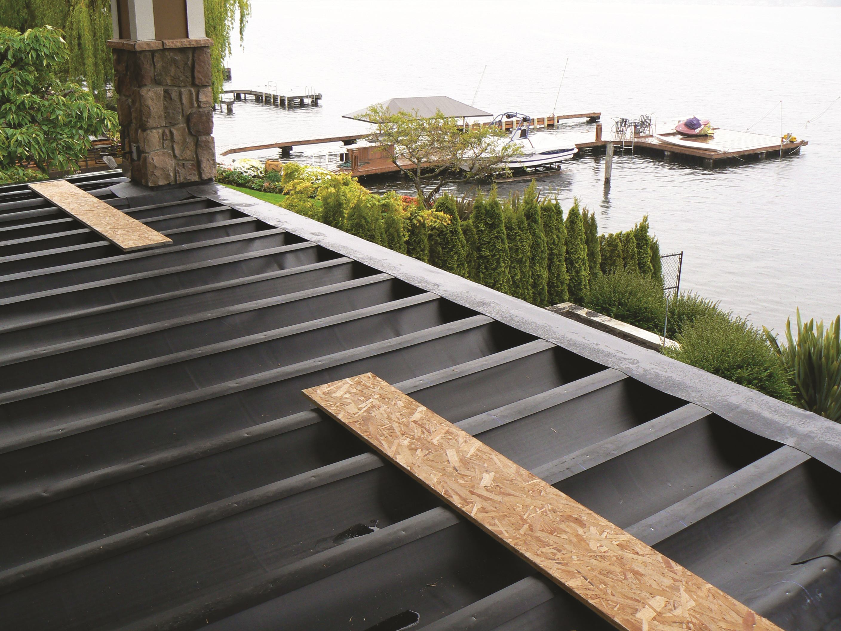 Concealed deck drainage systems builder magazine for Patio drainage
