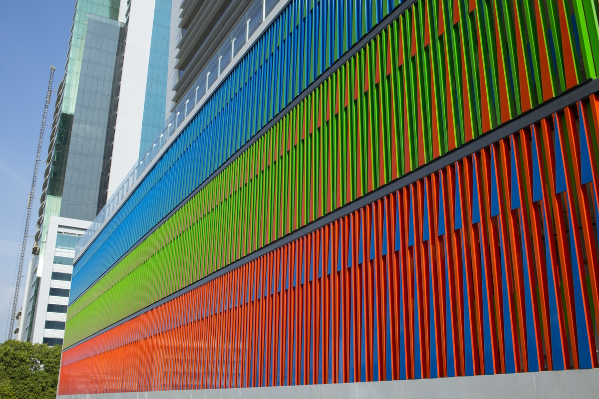 Home Interiors Design Plaza Panama Chromatic Structural Facade For The Kenex Plaza Office