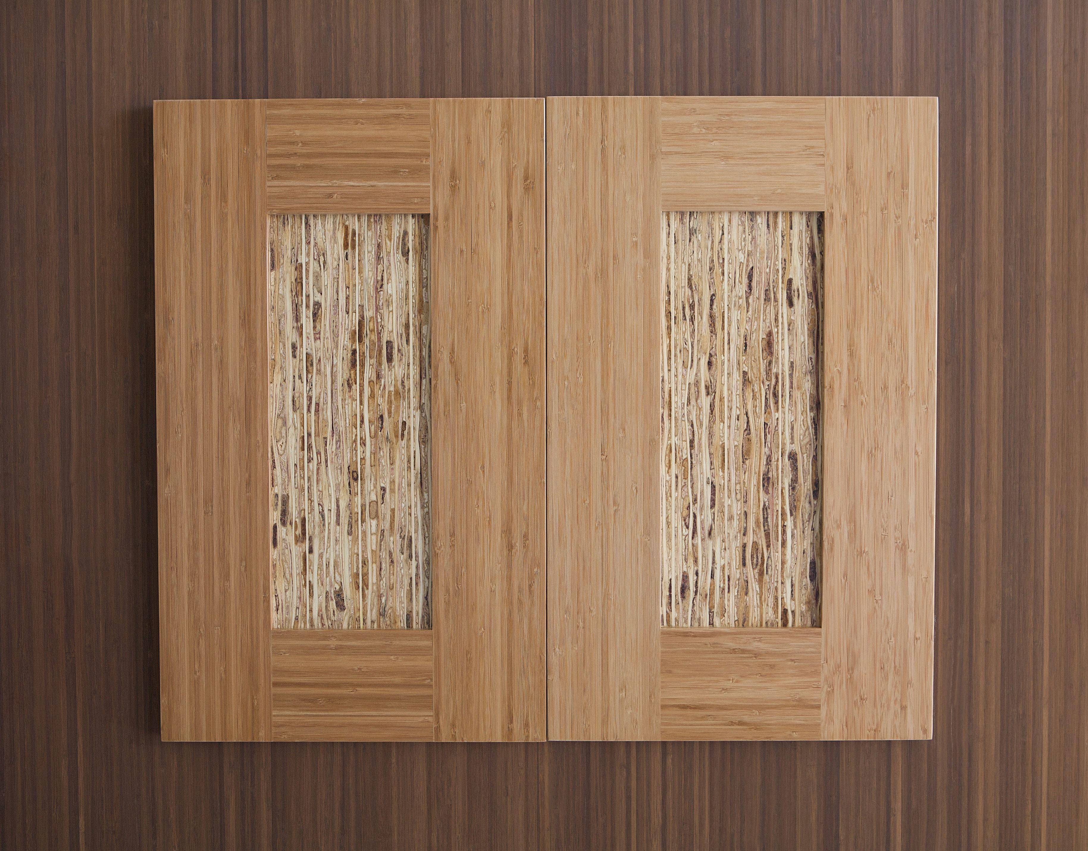 Straw And Bamboo Cabinet Doors From Kirei Ecobuilding