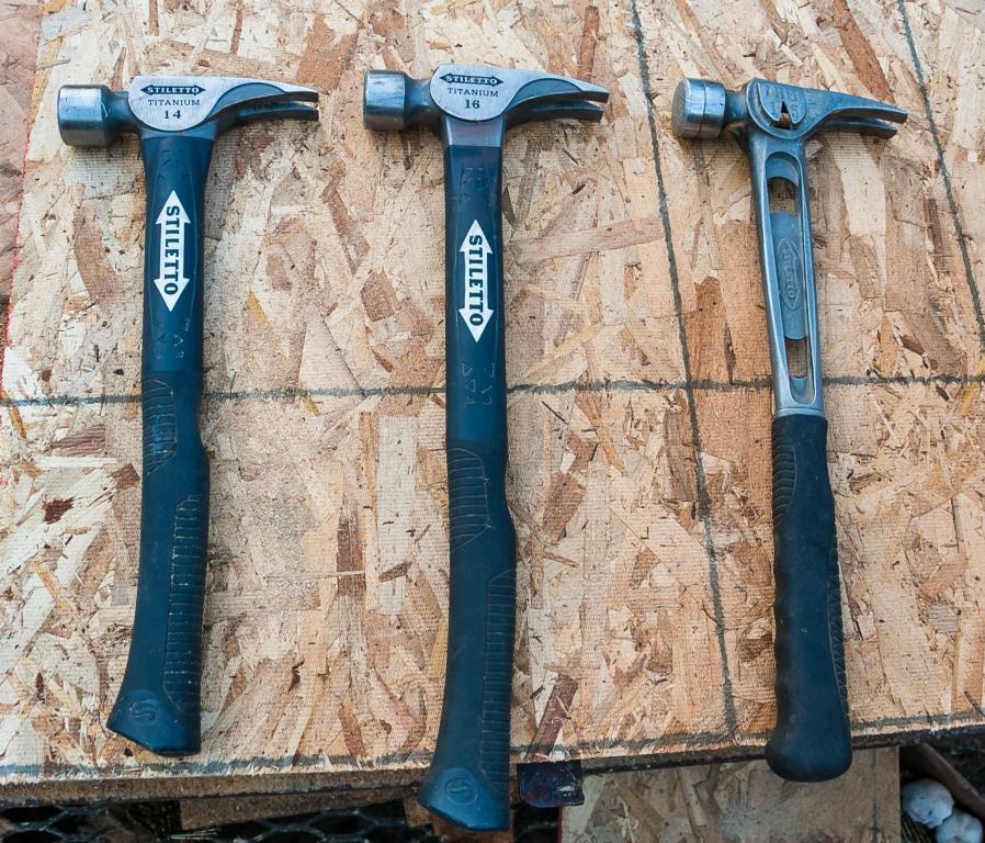 Stiletto Titanium Hybrid Fiberglass Handle Hammers Tools