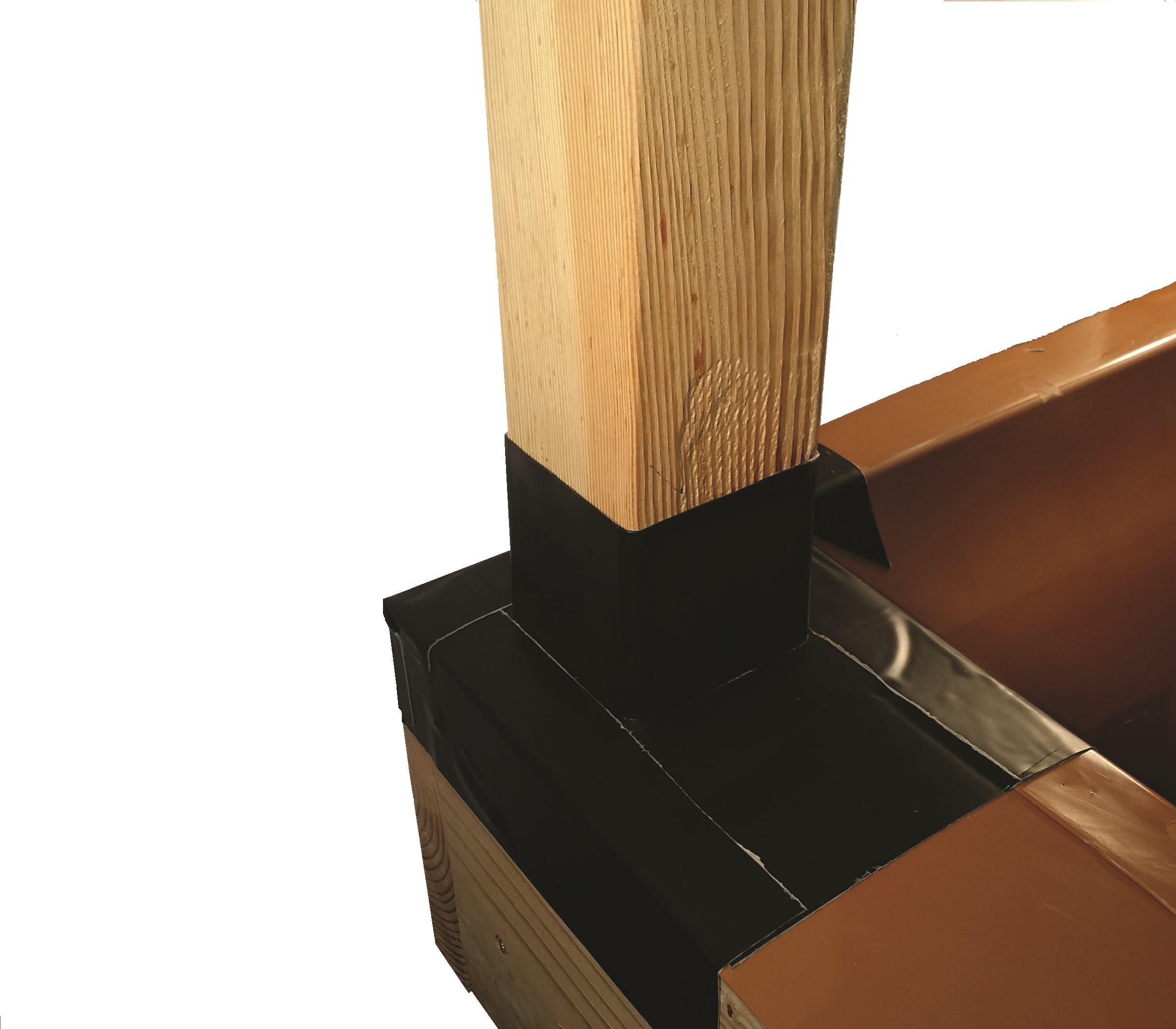 Post Flashing Professional Deck Builder Waterproofing