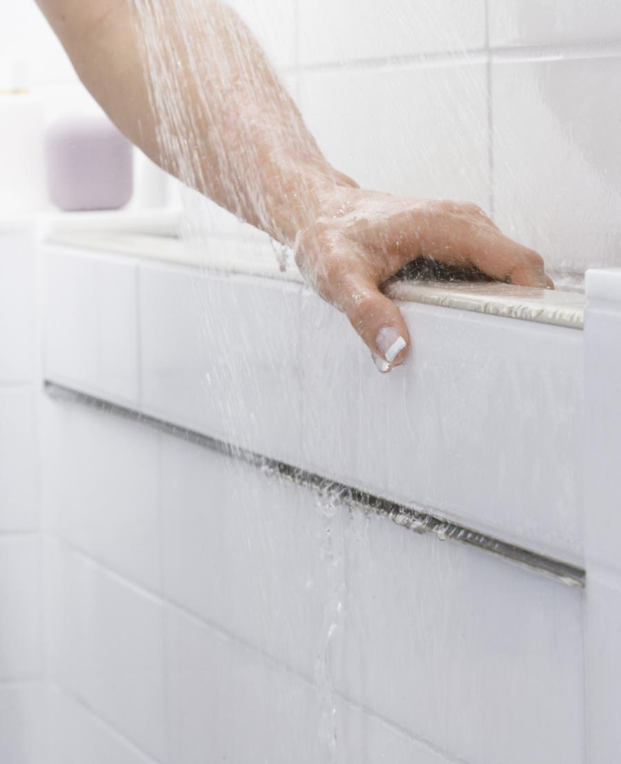 Kohler Belay Tile In Handrail Remodeling Bath Shower Universal Design Accessible Housing