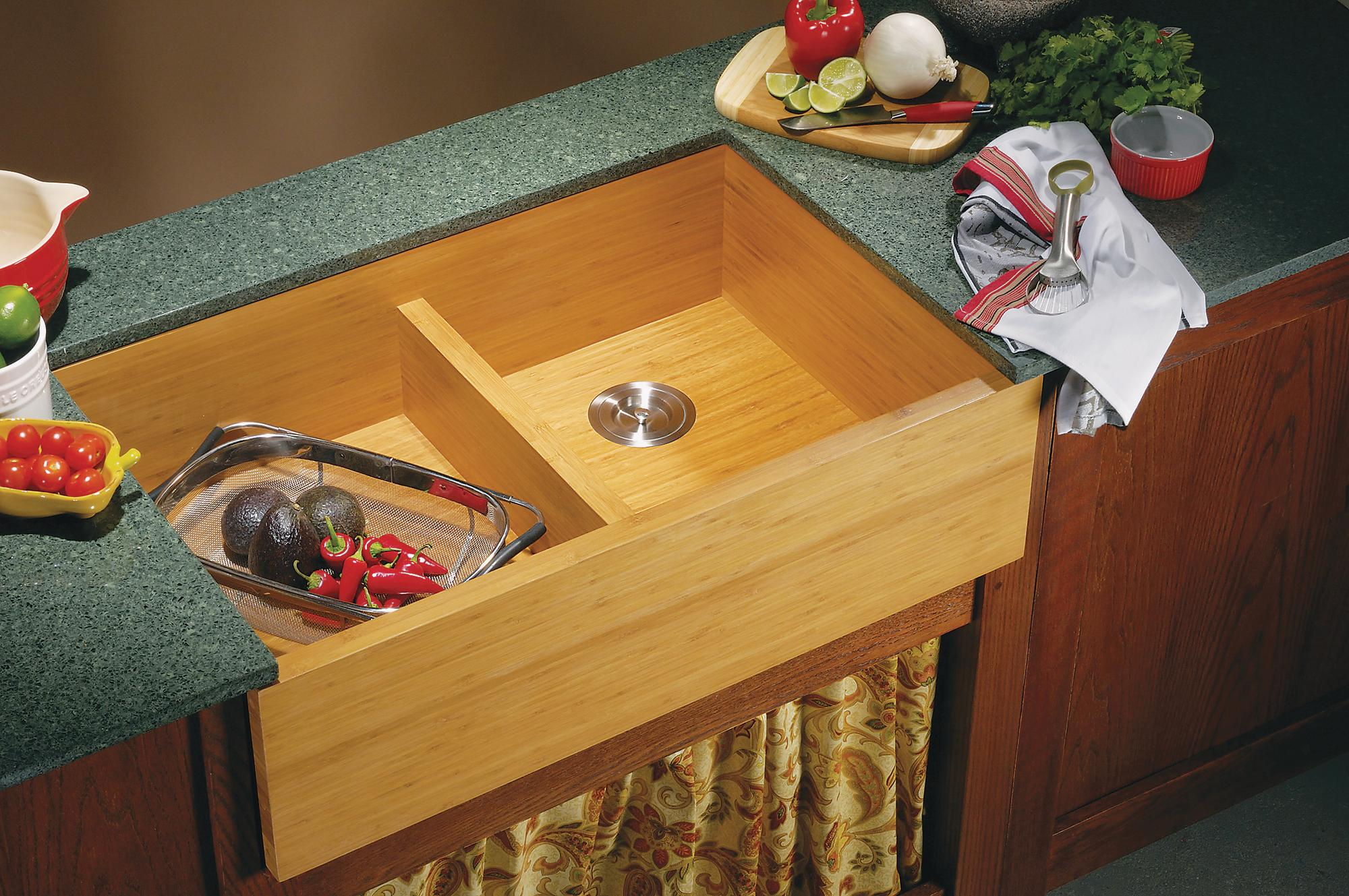 Lenova Bamboo Kitchen Sink
