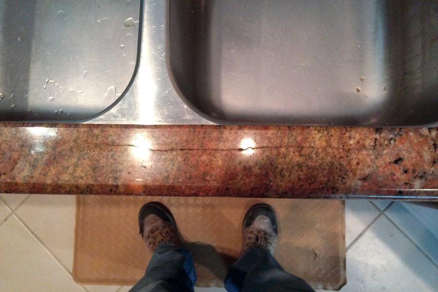 Repairing cracked granite at sink cutouts jlc online - Best caulk for undermount kitchen sink ...