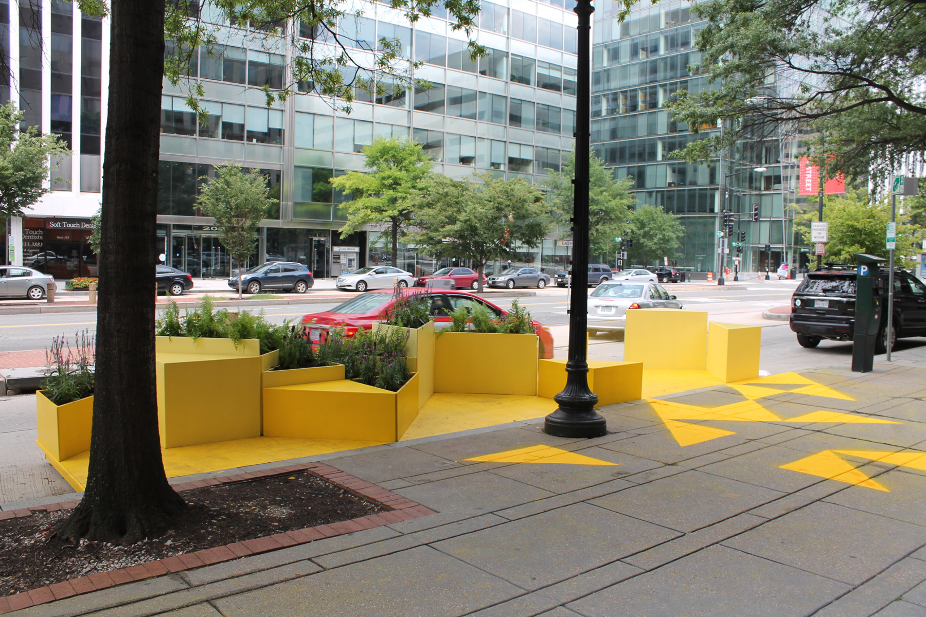gensler designs bright yellow parklet for d c architect