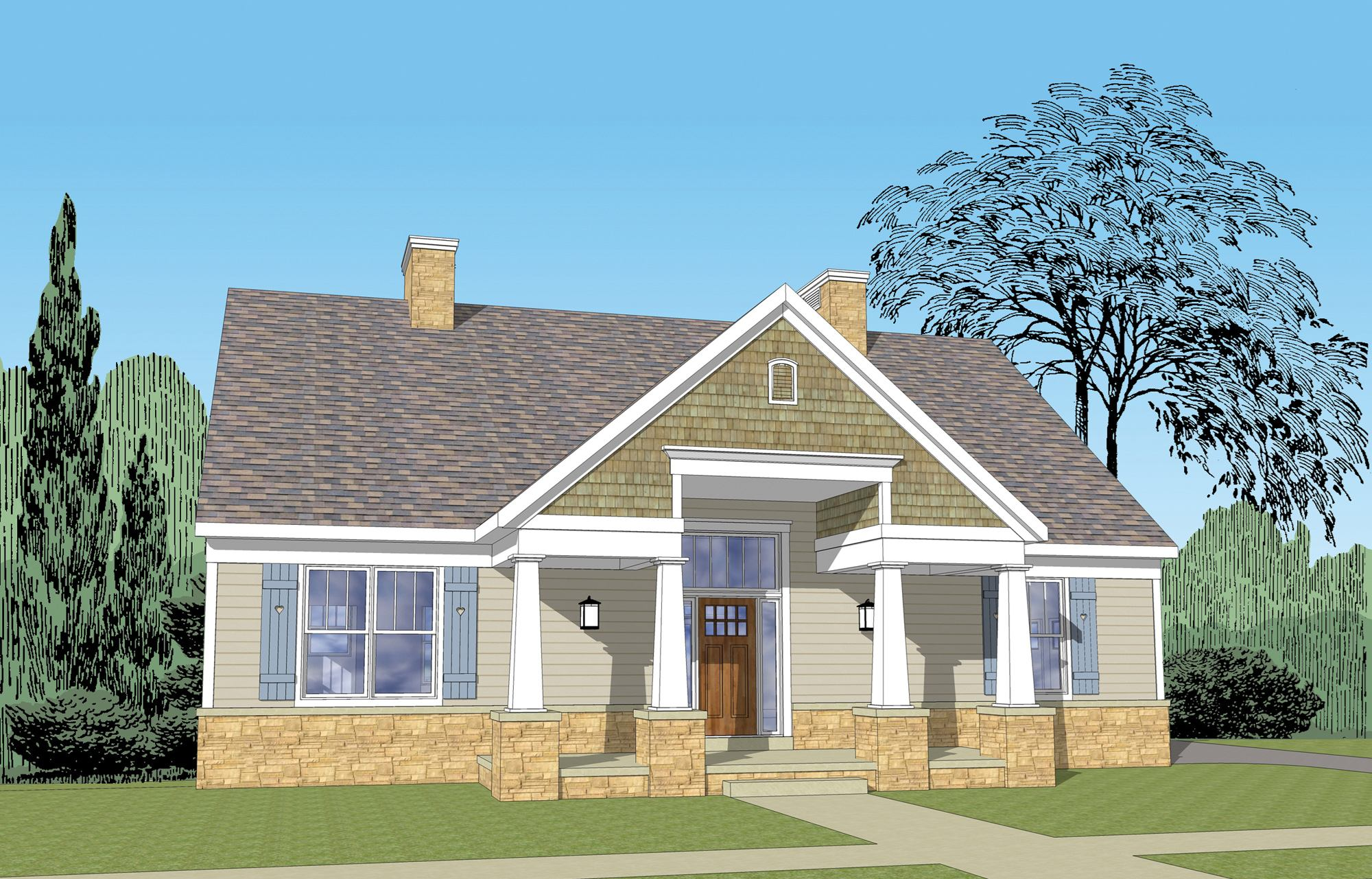 FourPlans: Small Home, Big Curb Appeal