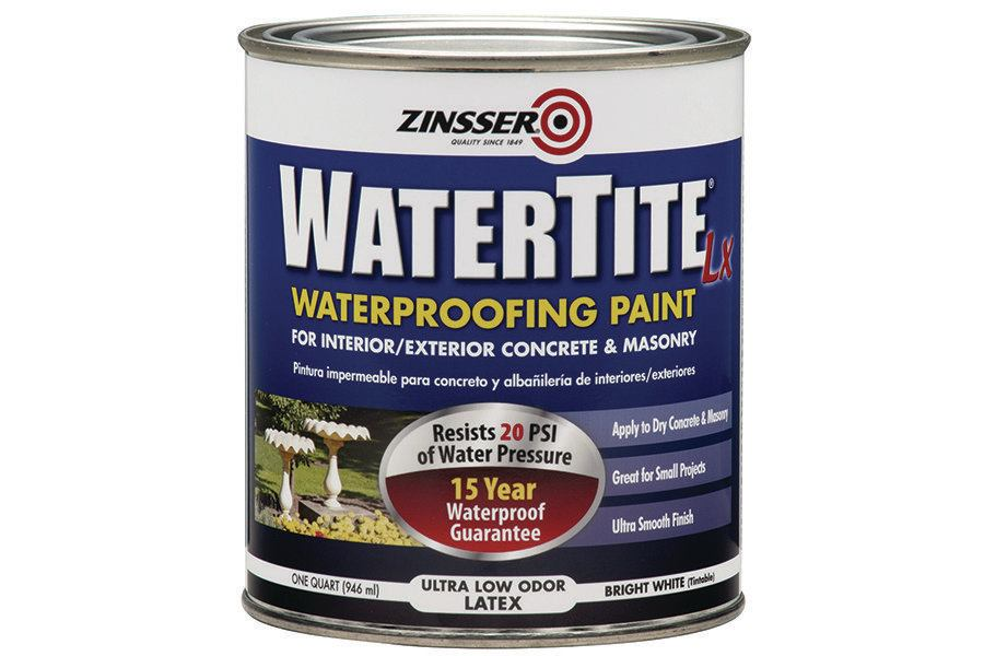 Rust Oleum Zinsser Watertite Paint Concrete Construction Magazine Coatings And Sealers