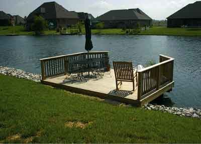 Building a stationary dock professional deck builder for Pond pier plans