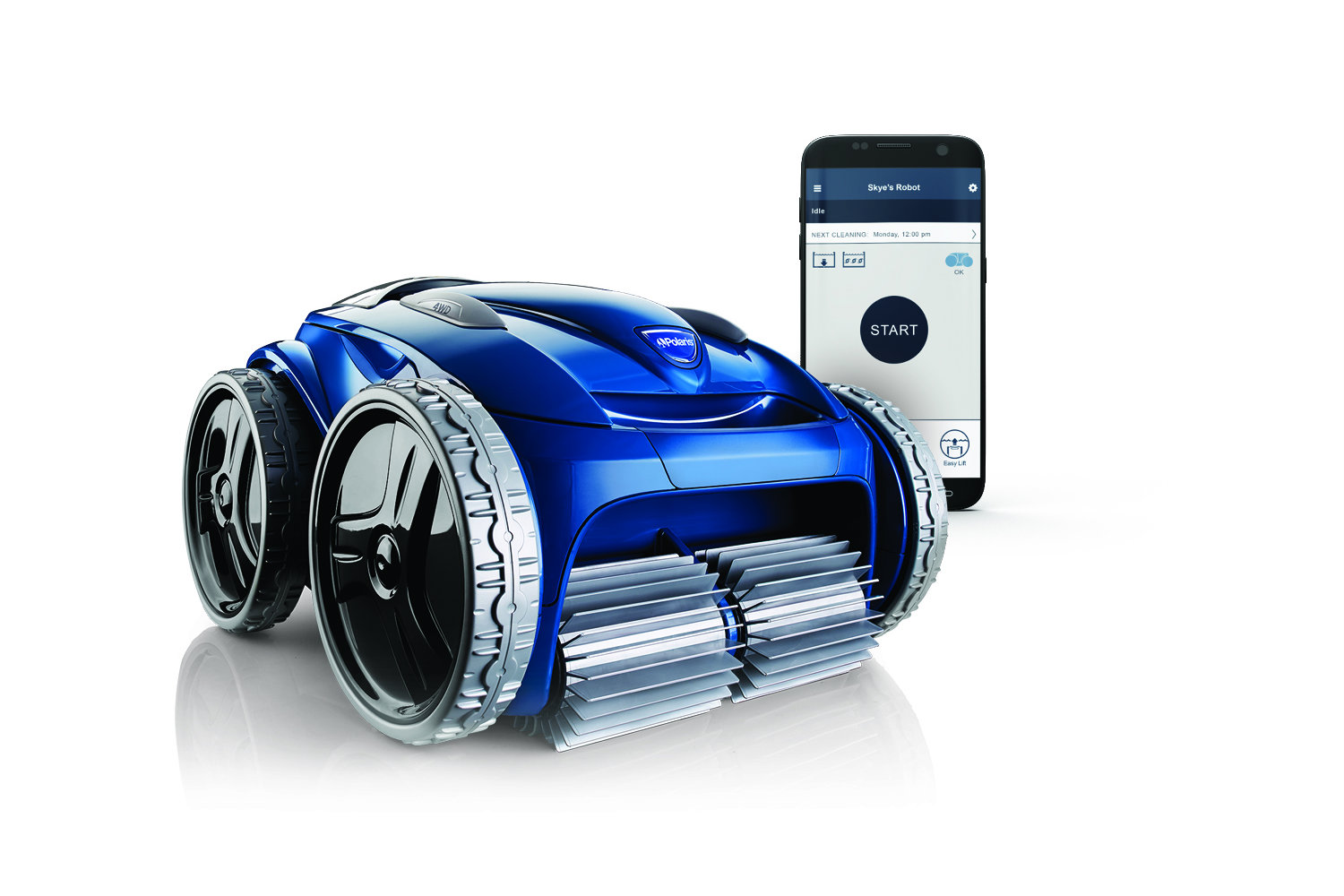 New Polaris Robotic Swimming Pool Cleaner Uses Four Wheel