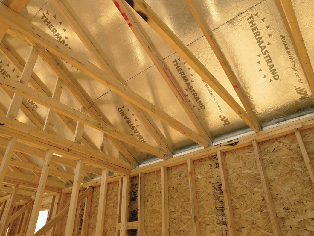 Radiant barrier sheathing from ainsworth ecobuilding for Roof sheathing material