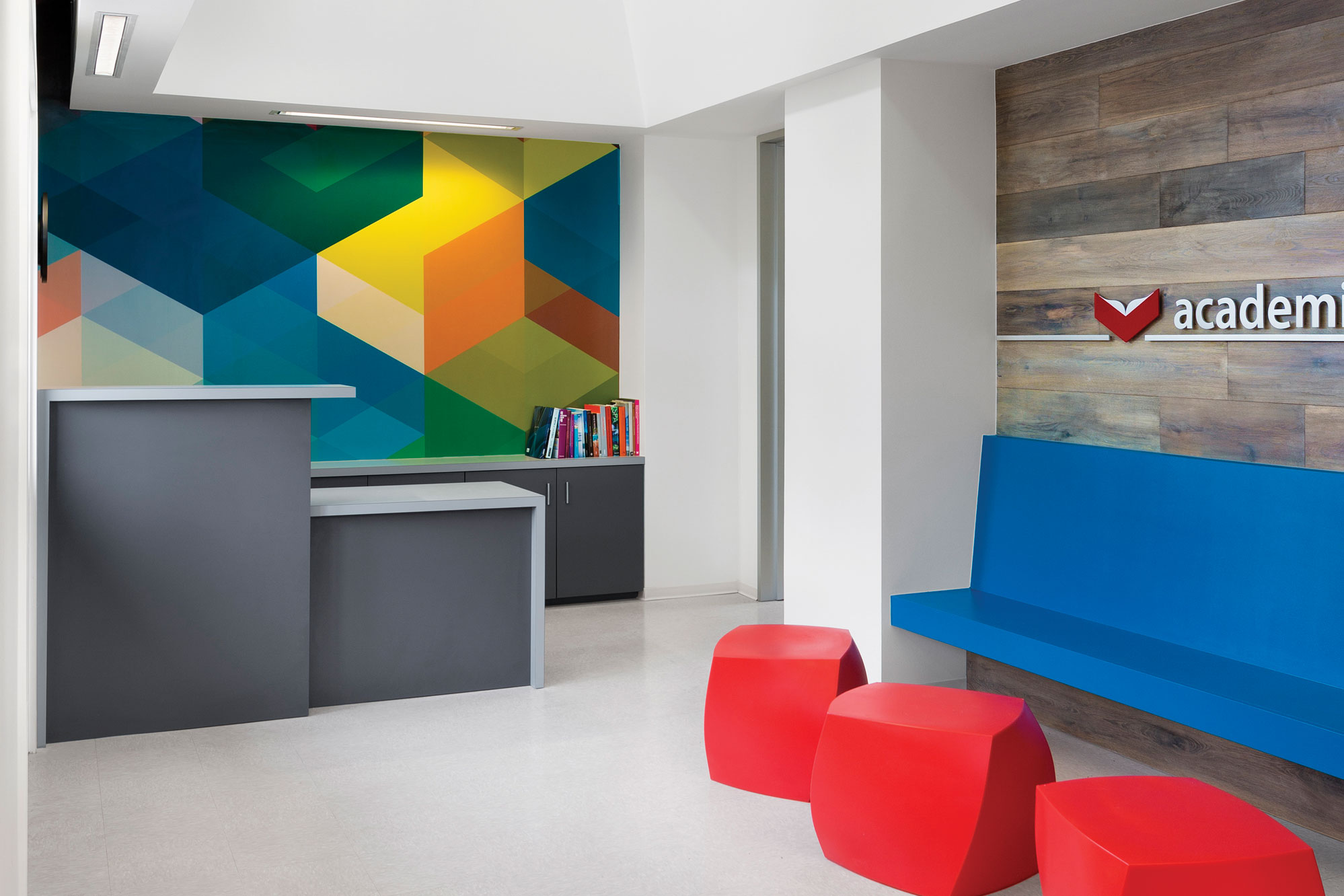 psychologist office design. bold and bright therapy office remodeling awards commercial lighting daylighting design sherwinwilliams psychologist e