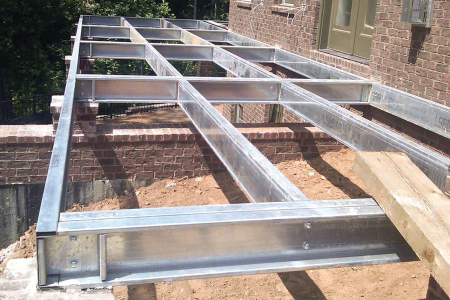 LiteSteel Technologies Galvanized Steel Beams   Professional Deck Builder    Products, Trex