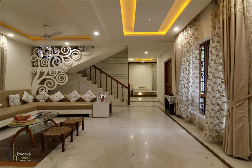 INDEPENDANT HOUSE DESIGNED IN A MINIMALISTIC ORNAMENTAL STYLEINDEPENDENT AT HYDERABAD