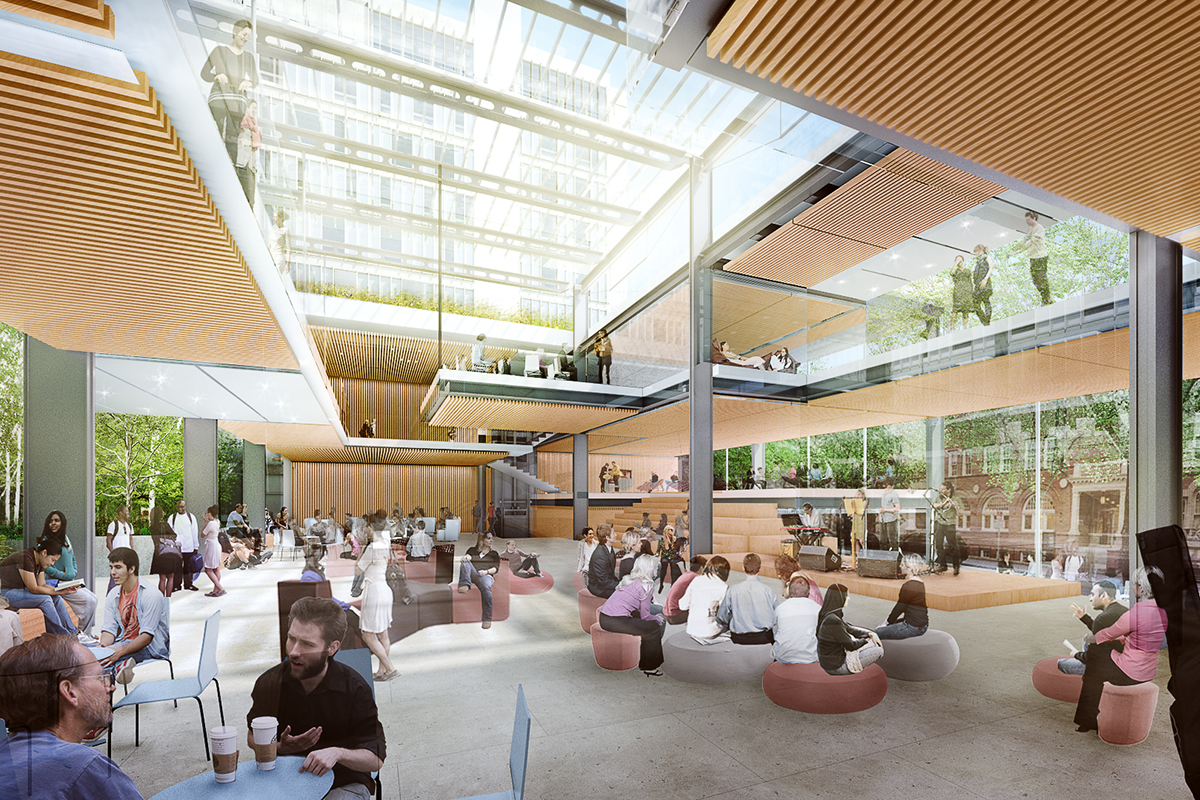 Richard a and susan f smith campus center at harvard for Architecture harvard