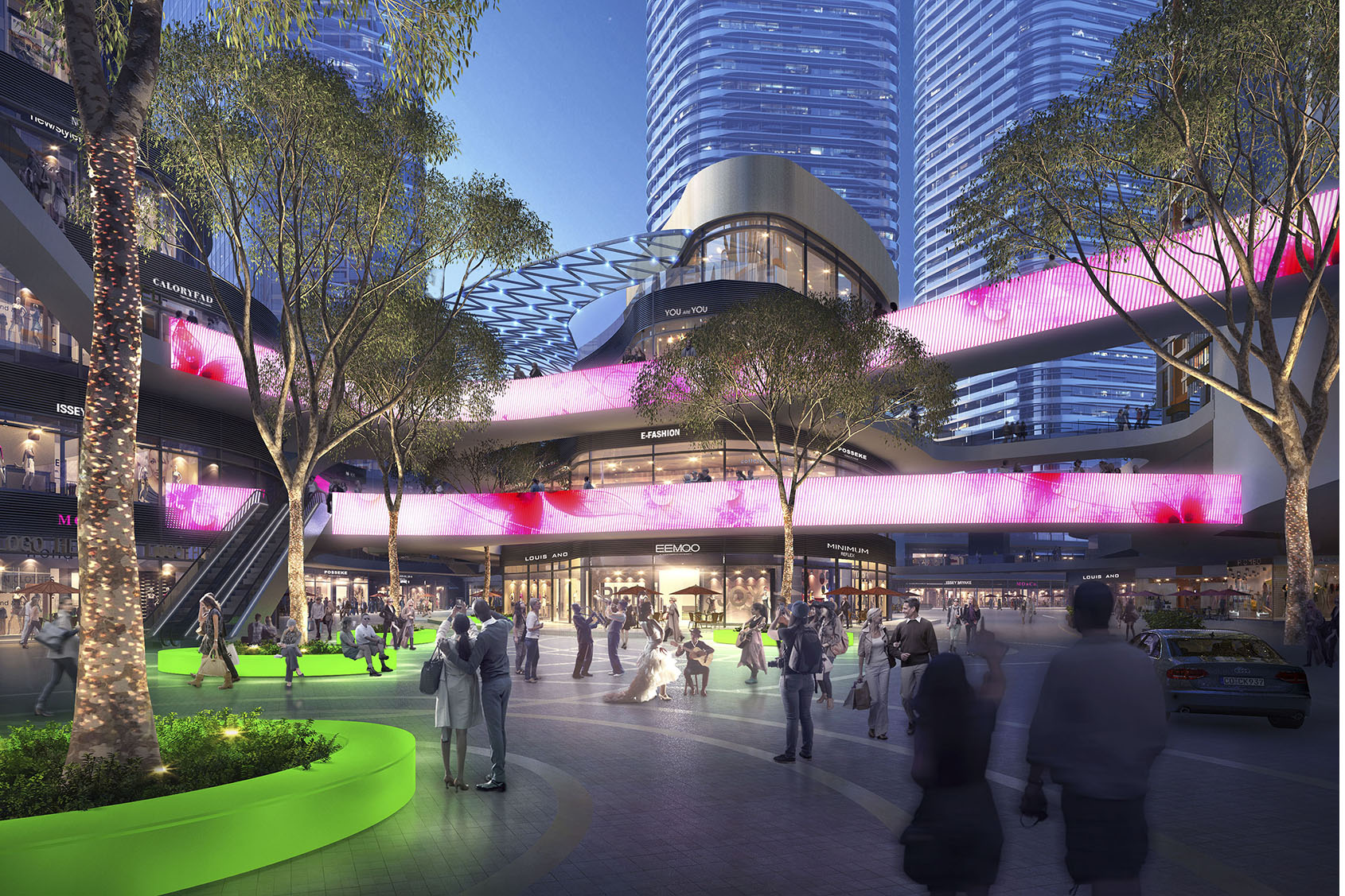 Chengdu Performing Arts And Entertainment Center Landscape
